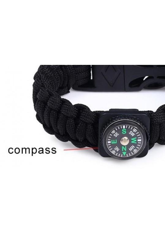 Outdoor Survival Paracord Bracelet