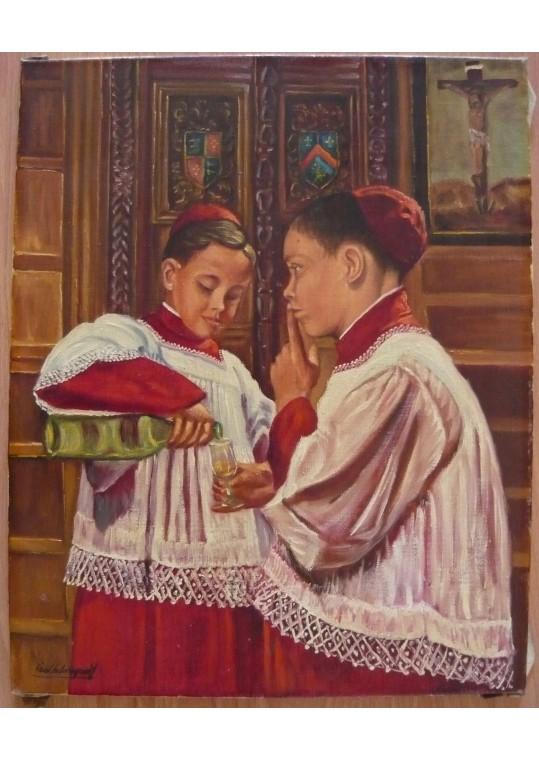 Pictura in ulei pe panza